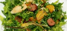Roasted golden beet salad with hearts of palm