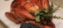 Roasted turkey with Madeira flavored jus
