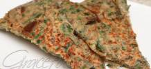 Eggplant pancake with chives 臺式韭菜蝦茄子煎