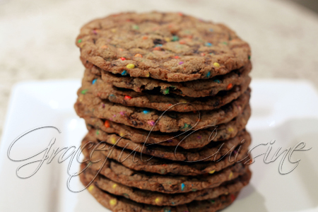 Candy and toffee chocolate chip cookies