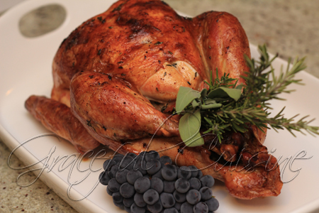 Roasted turkey with Madeira jus