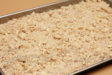 Butter crumble topping