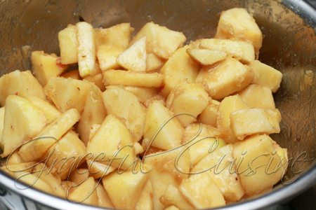 chopped apple with vanilla butter