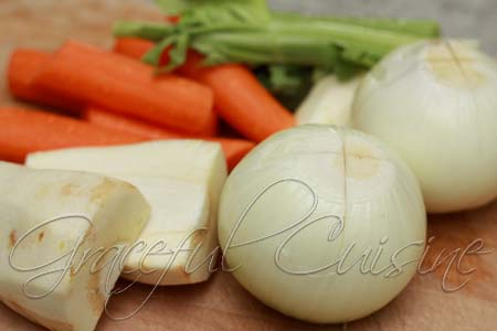 Vegetables for chicken soup