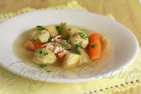 Chicken matzo ball soup recipe
