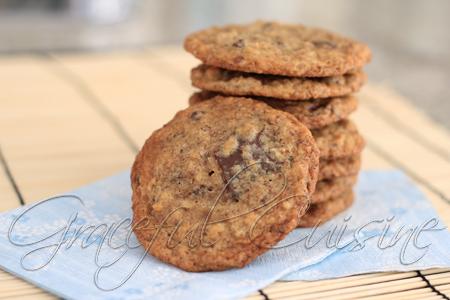 Flax seed chocolate chip cookies