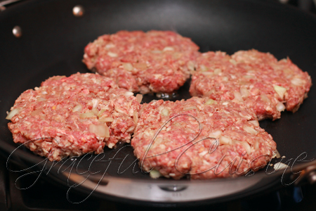 Grill ground meat patties