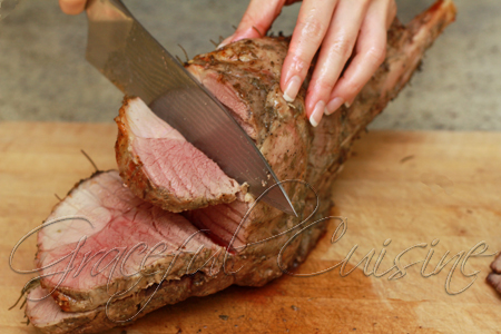 Carving a leg of lamb
