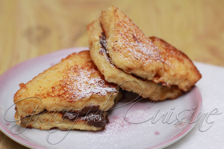 Chocolate french toast brioche sandwiches