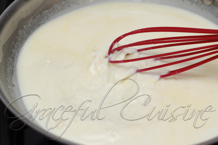 continue whisking milk mixture while heating