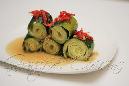 Cucumber peel appetizer