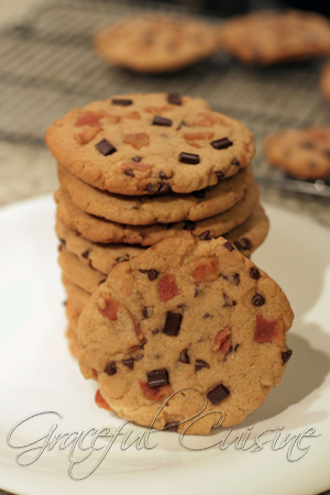 Peanut butter and bacon chocolate chip cookies