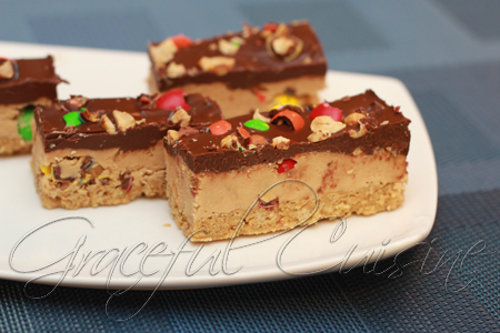 Peanut butter and candy bars