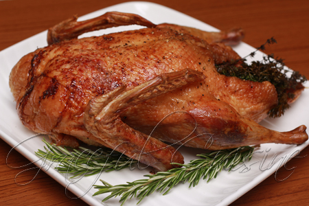 Succulent roast duck