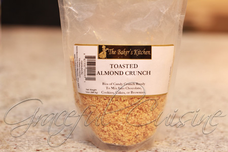 almond crunch topping