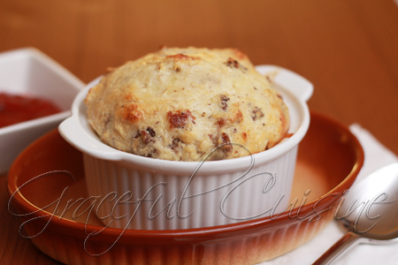 bacon cheeseburger souffle