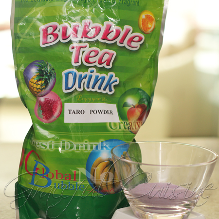 taro bubble tea powder