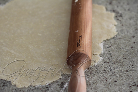 roll the dough with a floured rolling pin