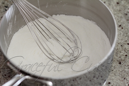 whisk together the sugar, cornstarch, and salt