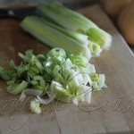 chopped leeks for soup