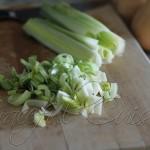 chopped leeks for soup