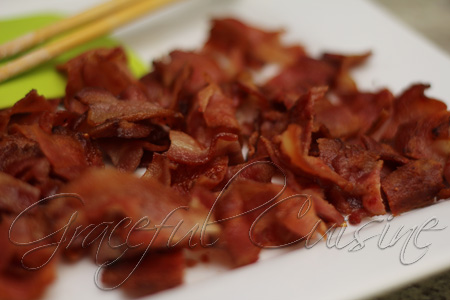 crisp bacon until brown