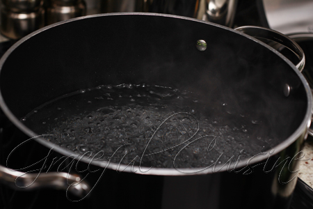 boiling water for vegetables